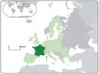 Fransa Lokasyon Haritası