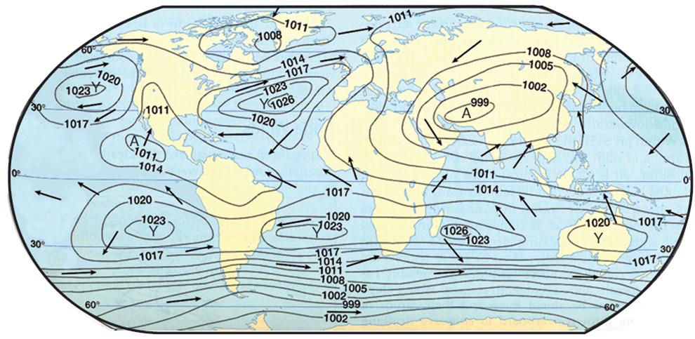 Temmuz Ayı Dünya Basınç Dağılımı