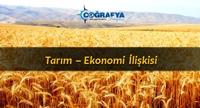 Tarım - Ekonomi İlişkisi (Sunum)