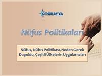 Nüfus ve Nüfus Politikaları (Yeni) (Sunum) Sunusu